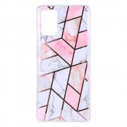 Shop4 - Samsung Galaxy S20 Plus Hoesje - Zachte Back Case Mozaïek Roze