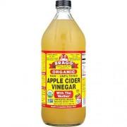 Bragg USDA vinagre de sidra de manzana cruda orgánica, con el limpiador natural de la madre 16 onzas, promueve la pérdida de peso