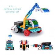 Remote Control Building Kits for Kids - 127pcs Building Blocks RC Machines Construction Set Build Robot Kit for Kids - Build Your Own Remote Control Car