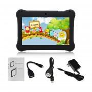 EY Q88 Niños Tablet De 7 Pulgadas, 512 MB De +8GB US Plug Kids Pad El Aprendizaje De Los Alumnos-Negro