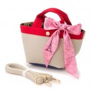ジョリージョリ シュリンク調2WAYミニトートバッグ【QVC】40代・50代レディースファッション