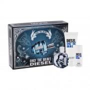 Diesel Only The Brave подаръчен комплект EDT 75 ml + душ гел 100 ml + душ гел 50 ml за мъже