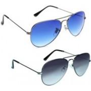 PARRK Aviator Sunglasses(Grey, Blue)