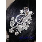 Гребенче-бижу за коса белгийски кристали Flowers and Butterflies