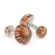 Mousie Bean Enamelled Cufflinks Umbrella 068 Yellow & Red