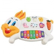 Rabbit Musical Piano Toy for Kids Different Animal Sounds Flashing Lights Music