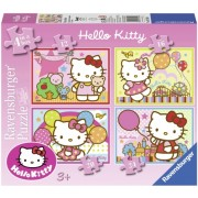 Puzzle Hello Kitty, 4 buc in cutie, 12/16/20/24 piese Ravensburger