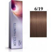 Wella Professionals Vopsea permanenta Wella Professionals Illumina Color 6/19 Blond Inchis Perlat Cenusiu 60ml