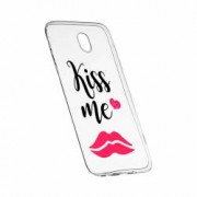 Husa Silicon Transparent Slim Kiss Me 103 Xiaomi Mi4