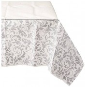 """amscan Stylish Silver Wedding Paper Table Cover Disposable Tableware Decoration, 54"""" X 102"""". Childrens-Party-Tablecovers"""
