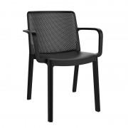 Resol - Conjunto de 4 cadeiras com braços pretas FRESH - RESOL