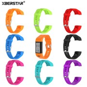 XBERSTAR Watchband Strap for Garmin Vivosmart HR PLUS HR+ with Tools Sports Silicone Watch Band Strap Bracelet Wristband