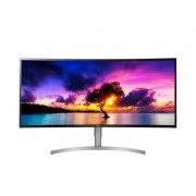 "LG ELECTRONICS LG 38WK95C-W LED display 95,2 cm (37.5"") UltraWide Quad HD Curva Plata, Blanco"