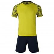 Conjunto De Fútbol Jersey Para Unisexo Permeabilidad De Color Solido - Amarillo