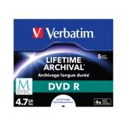Verbatim MDISC Lifetime Archival DVD R 4x 4.7GB Jewel Case 5, pret pe bucata