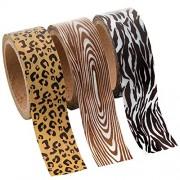Animal Print Washi Tape Set - 16 Ft. Of Tape Per Roll (3 Rolls Per Unit)