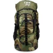 Chris & Kate Large Camouflage Travel Backpack    Outdoor Sport Camp Hiking Trekking Bag    Camping Daypack Bag    Rucksack - 45 L(Green)