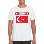 Bellatio Decorations Turkse vlag shirt wit heren