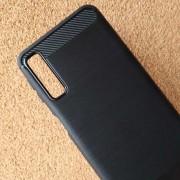 Силиконов калъф за Samsung A7 2018 A750F гръб черен карбон Lux