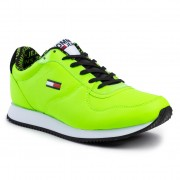 Sneakers TOMMY JEANS - Casual Tommy Jeans Sneaker EM0EM00372 Green Gecko Lac