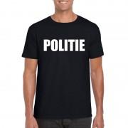 Bellatio Decorations Politie tekst t-shirt zwart heren
