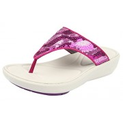 Clarks Women's Wave Dazzle Pink Slippers - 6 UK