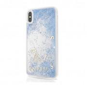Guess Glitter Hard Case - дизайнерски кейс с висока защита за Apple iPhone X (син)