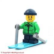 LEGO Holiday MiniFigure - Skier Boy w/ Winter Jacket (Freckles, w/ Knit Cap)