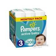 Pampers Active Baby pelenke Monthly Box, 3- , 208 kom