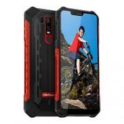"Ulefone Armor 6E teléfono celular robusto desbloqueado, teléfono resistente Dual Sim 4G 6.2"" FHD Android 9.0 Helio P70, 4GB+64GB, NFC+ Face ID + UV Senso+GPS + carga inalámbrica, Rojo"