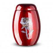 Rode Glasfiber Urn Roos (3.7 liter)