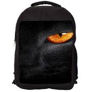 Snoogg Cat Eyes Backpack Rucksack School Travel Unisex Casual Canvas Bag Book...