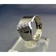 Zlatý prsteň dámsky zvlástny biele zlato VP50376B