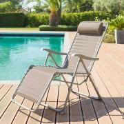 Hespéride Fauteuil Relax de Jardin Silos Taupe