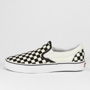 Vans Classic Slip On (Checkerboard) - Wit - Size: 36; male