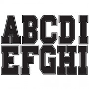 Athletic Block Black Magnetic Letters 2.75' 57 Letters Uppercase