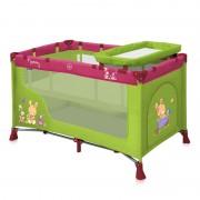Bertoni krevetac torba Nanny 2 nivoa Green&Pink bunnies 10080191529