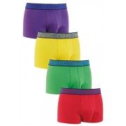 Mens Next Bright Colour Hipsters Four Pack - Multi