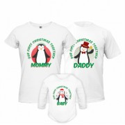Set Tricouri Si Body Penguin Family
