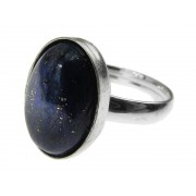 Inel argint reglabil cu lapis lazuli natural 14x10 MM