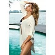 Patricia ingszabású strandruha, fehér