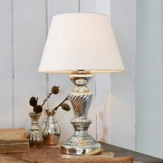 LOBERON Tafellamp Hazel / antiekzilverkleurig/crème