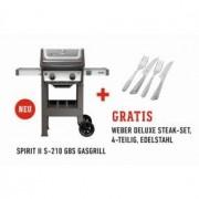 Weber Gasgrill Weber Spirit II S-210 GBS inklusive Steakmesser-Set