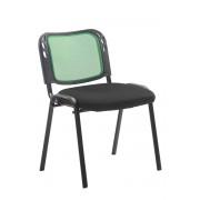 CLP Sedia impilabile Michelle, nero/verde , nero/verde, altezza seduta