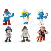 SMURF Smurfs 20729? 20734 2013 released 3D film series, the second series, the entire set of 6, Schleich, Schleich