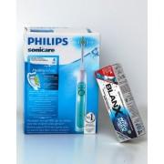 Промоция: Избелваща четка за зъби Philips Sonicare Healthy White (зелена) HX6712/43 + паста за зъби BlanX® White Shock, 50 ml + BlanX® LED