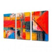 Tablou Canvas Premium Abstract Multicolor Geometric Decoratiuni Moderne pentru Casa 3 x 70 x 100 cm