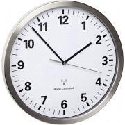 Ceas de perete DCF, silenţios, oţel inoxidabil, TFA 60.3523.02