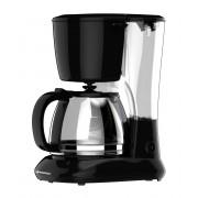 Cafetiera Vortex VO4012, 1.25 L, 750W, Filtru permanent, Funcție anti-picurare, Funcție menținere la cald, Cană sticlă, Negru