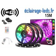 Bandeau LED RGB 15m Wifi connecté Alexa + Google home. ref kbrgb15m-02